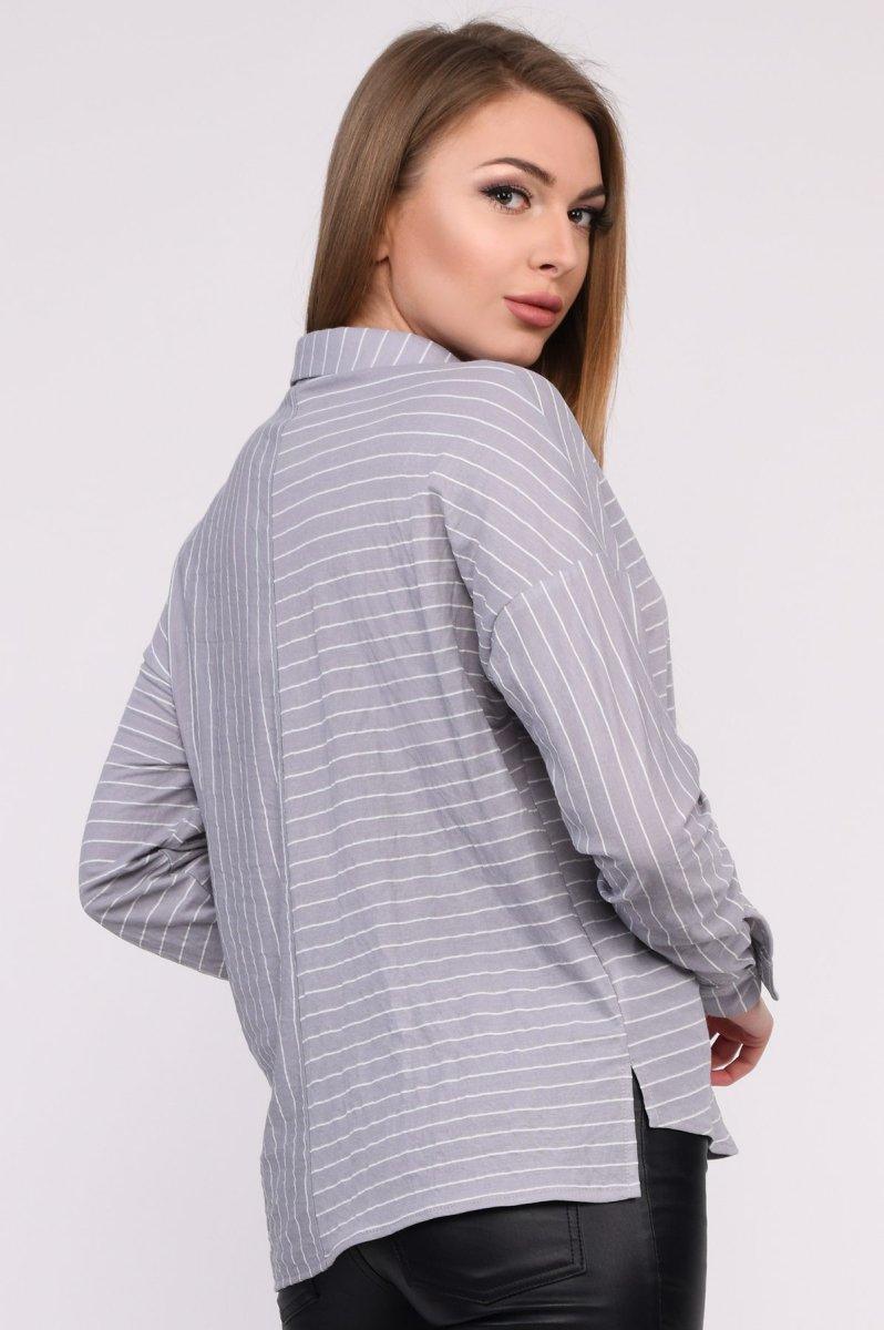Рубашка BK-7688-4 Светло-серый