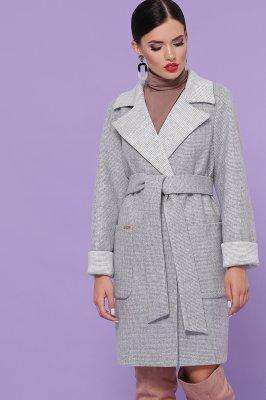 Пальто прямого силуэта П-347-М-90 15-св.серый