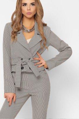 Стильный укороченный пиджак 9022-10 бежевый