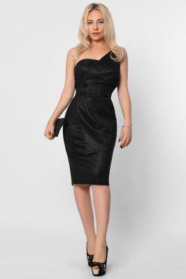Ассиметричное вечернее платье 10298-8 черное