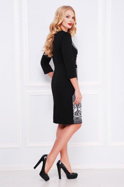 Кружево платье Джемма-Б д/р черный