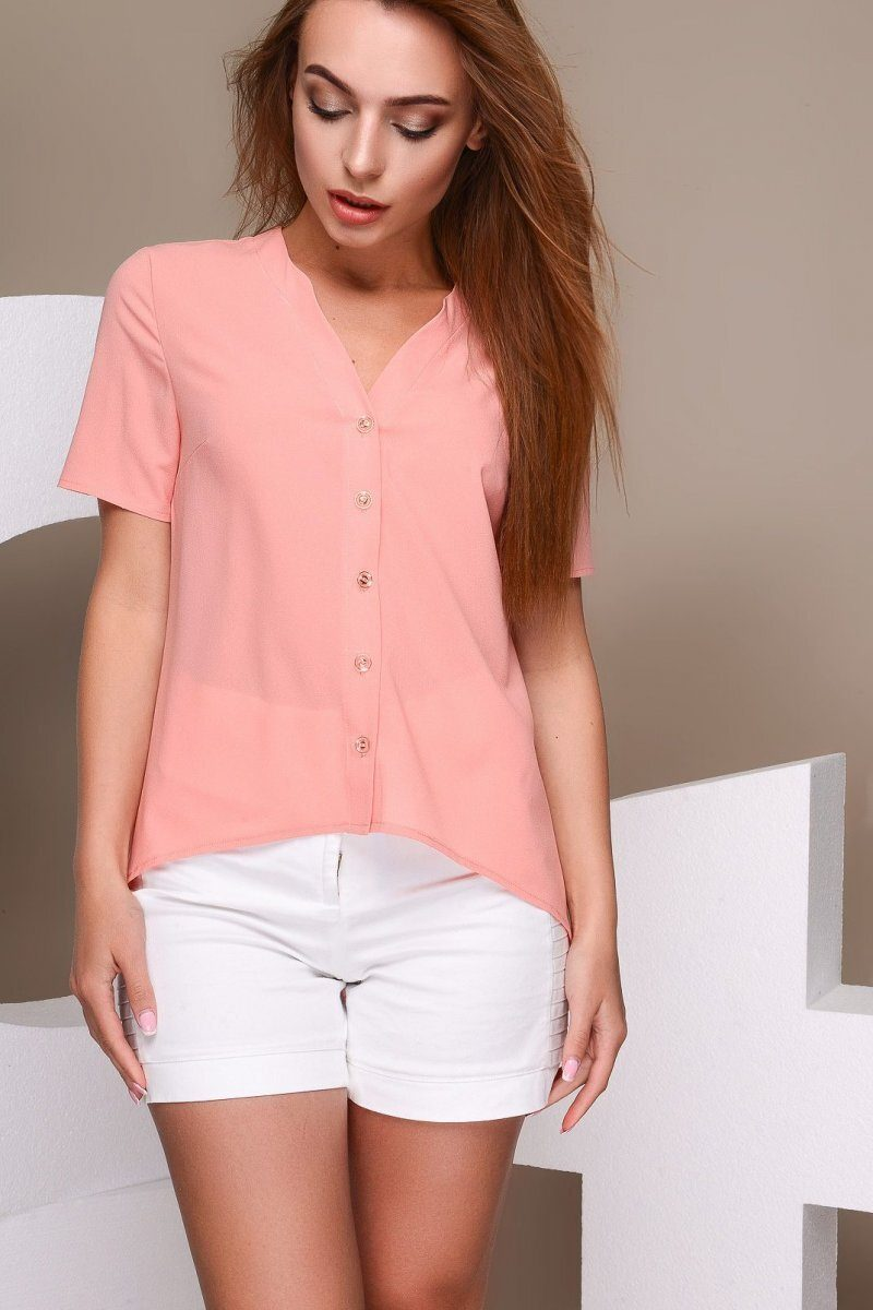 Блузка LB-0001-10 Персиковый