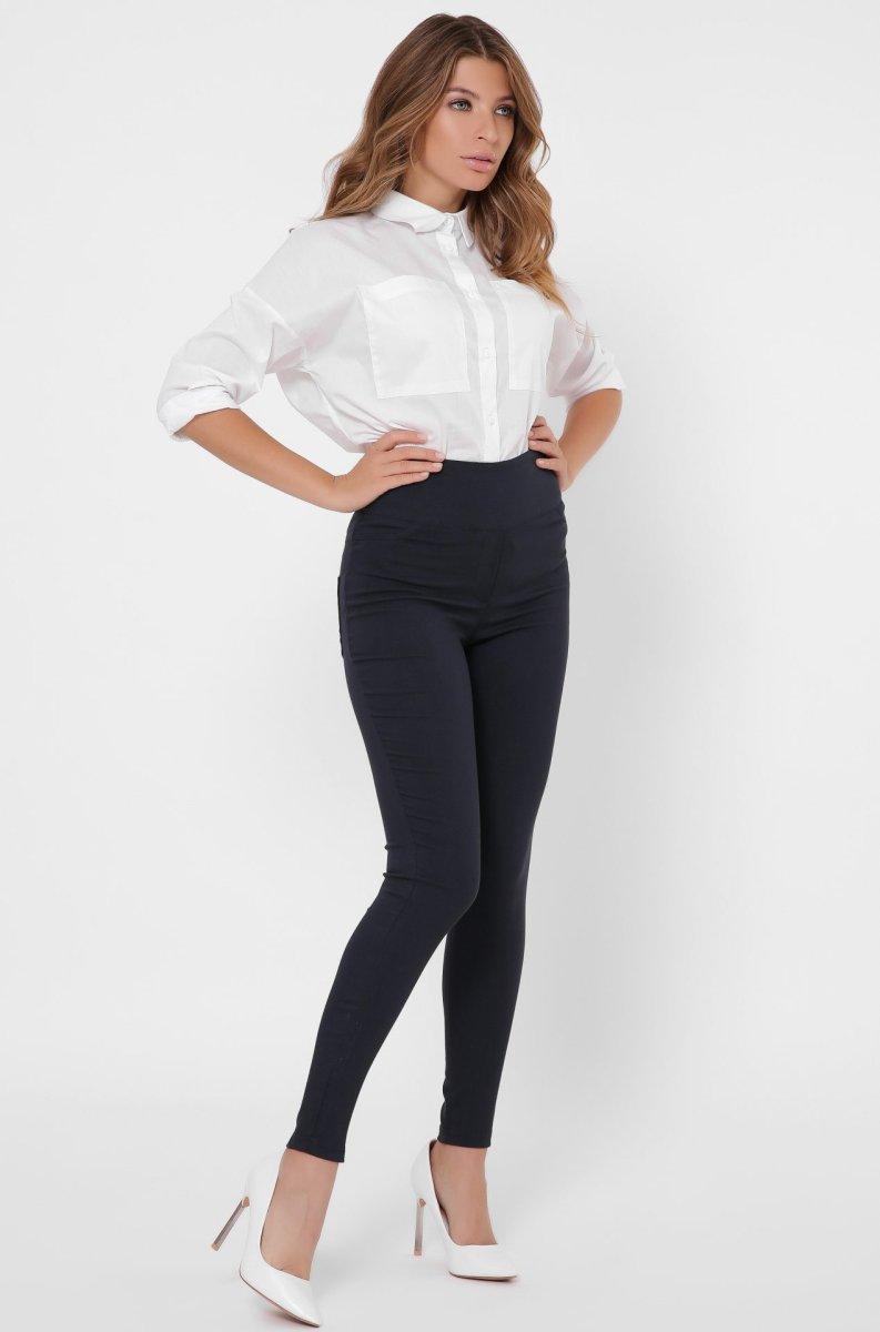Женские брюки скинни 4244-2 Синий