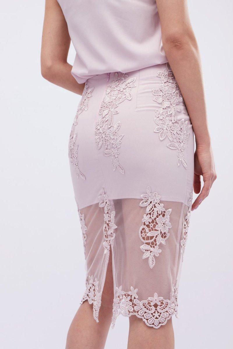 Нежная юбка UB-3240-25 Пудровый