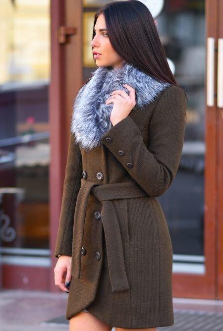 Шерстяное зимнее пальто LS-8766-1