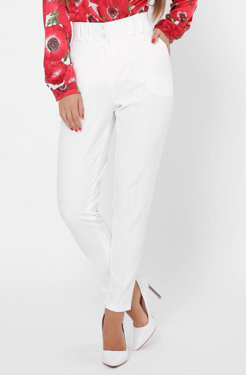 Дизайнерские женские брюки 4246-3 Молоко