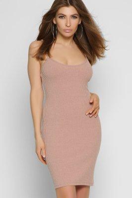 Трикотажное платье-майка 10344-25 Пудра
