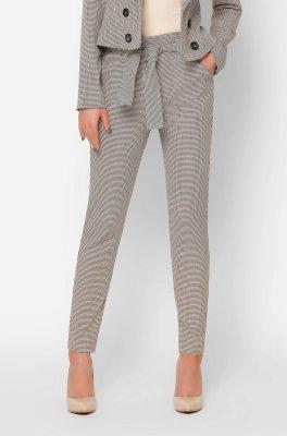 Стильные костюмные брюки 4254-10 бежевые
