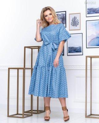 Летнее платье Майорка - 1 (голубой)