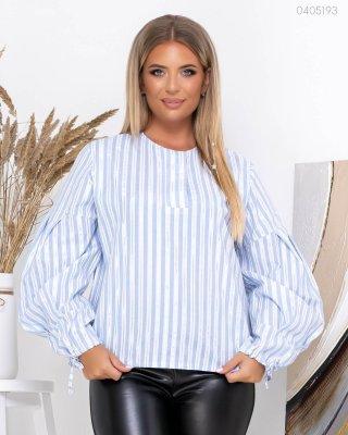Коттоновая блуза Канкун (голубой)