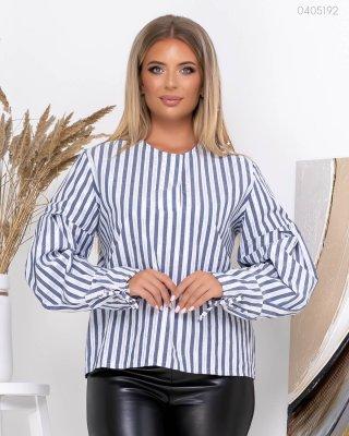 Блуза с объёмным рукавом Канкун (серый)