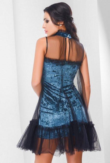 Велюровое платье KP-10106-18