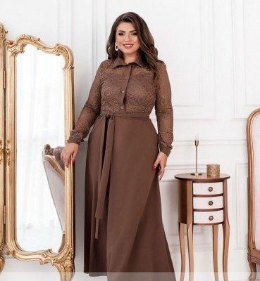 Элегантное платье 8628 мокко