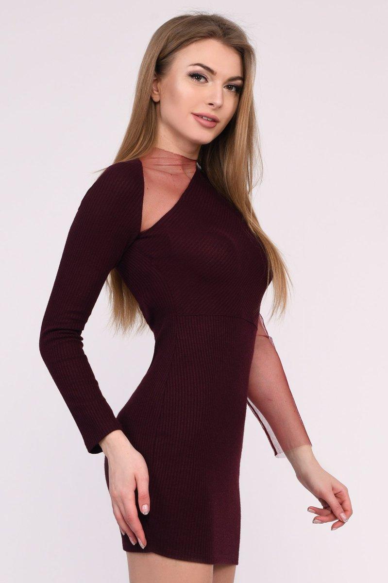 Платье KP-10226-16 Марсала