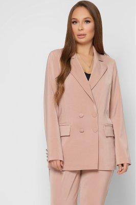 Удлиненный женский пиджак 9024-10 бежевый