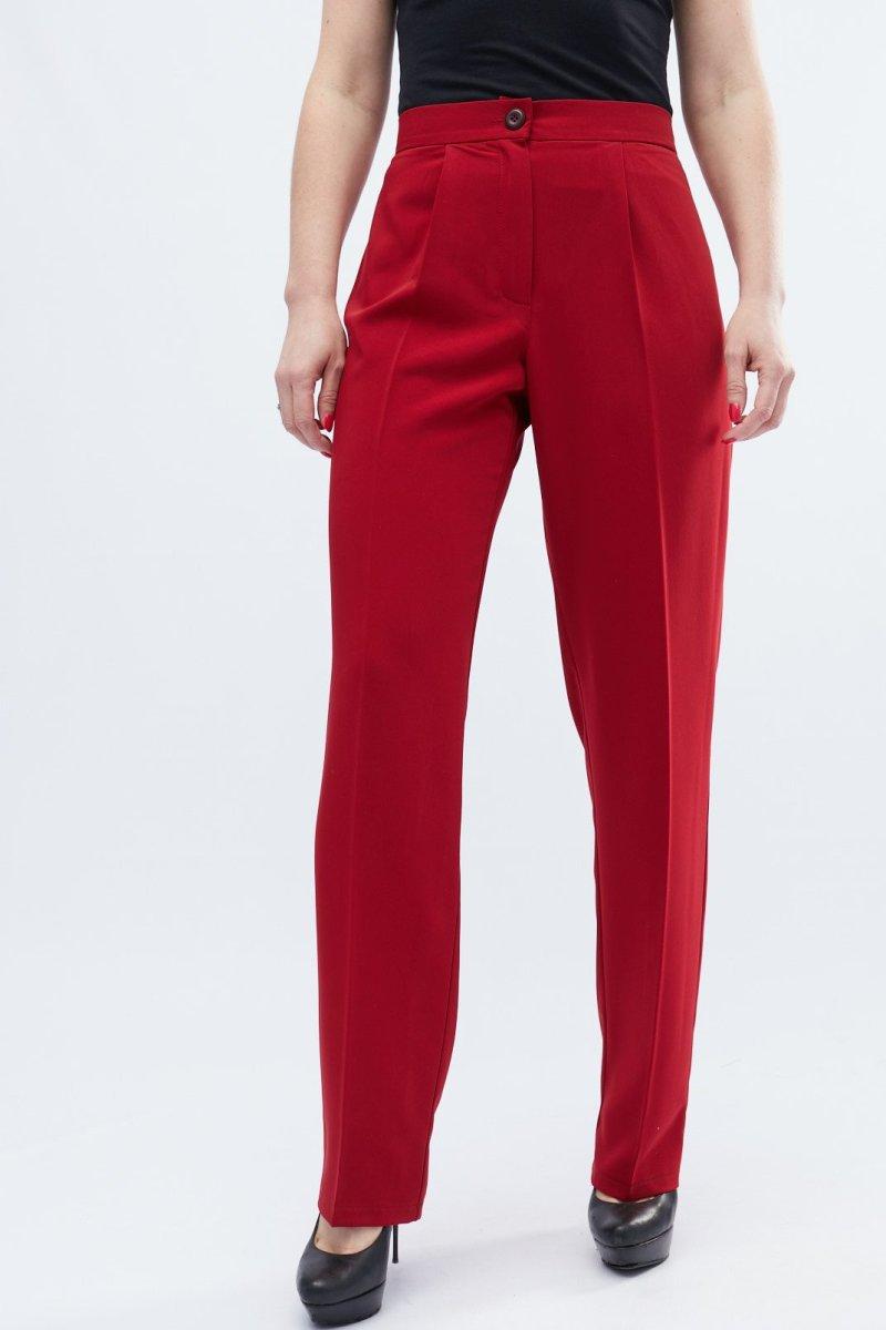 Классические брюки 4224-33 Бордовый