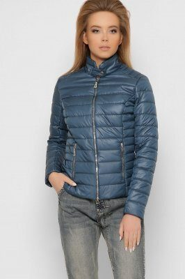 Женская стеганая куртка 8820-18 Морская волна
