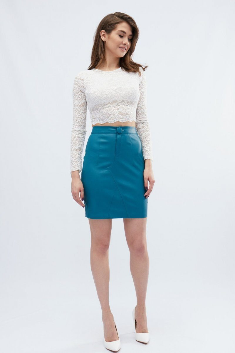 Мини-юбка UB-3237-18 Морская волна