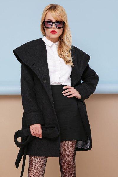 пальто П-3к черный