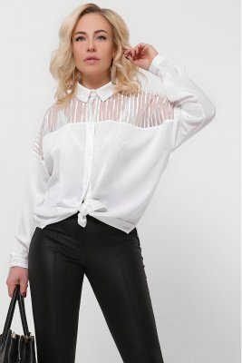 Шелковая блузка 7697-3 белая