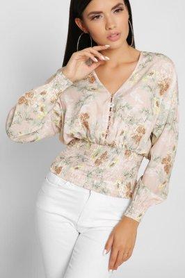 Шифоновая блузка 7713-25 пудра