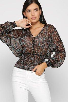 Шифоновая блузка 7713-8 черный