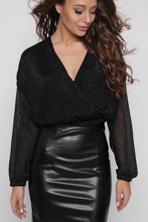 Блузка 7723-8 черный