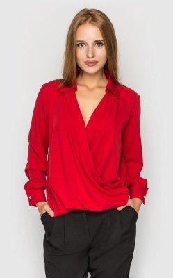 Блуза на запах (красная)