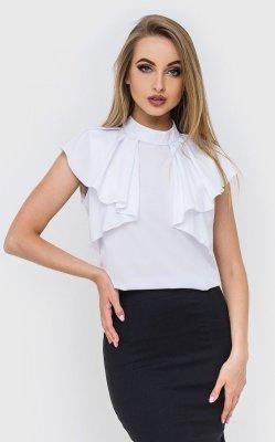 Блузка с воланами белая