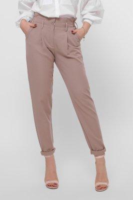Зауженные брюки 4253-10 бежевые