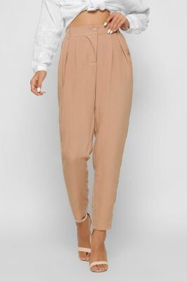 Женские льняные брюки 4268-6 песок
