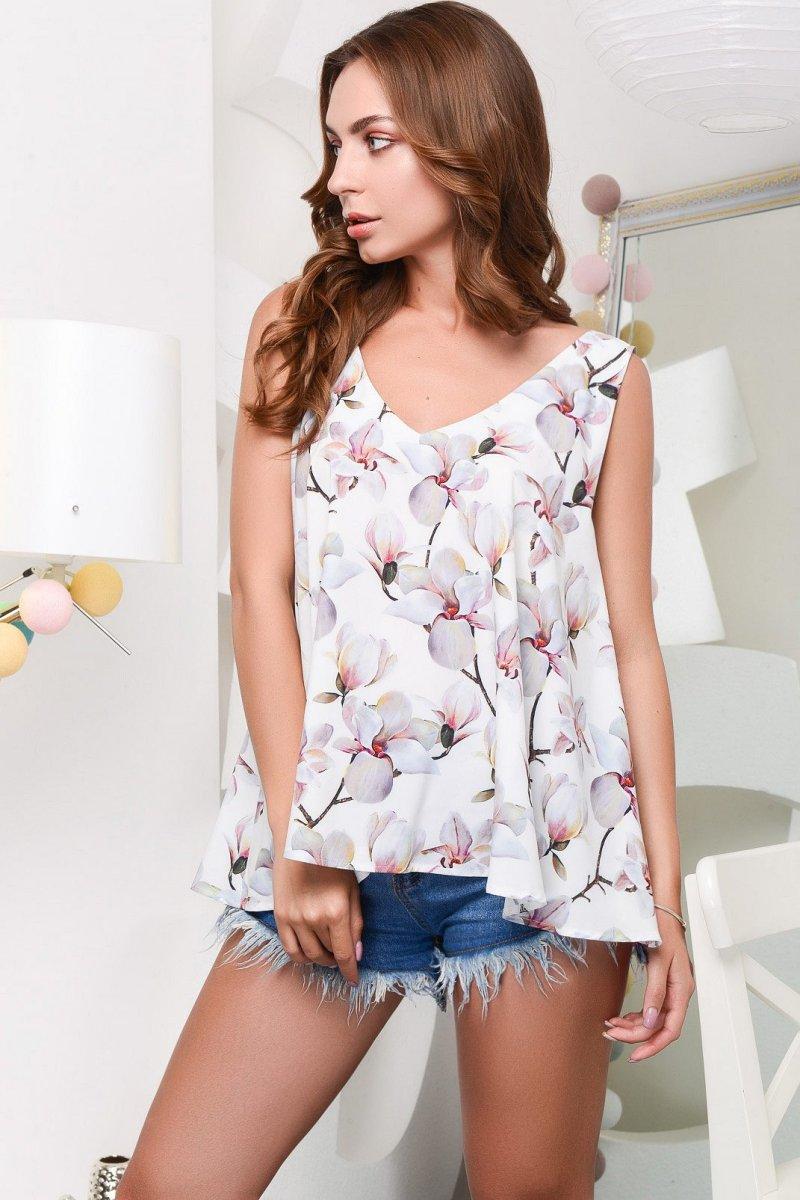 Шифоновая блузка BK-7497-3 Молоко