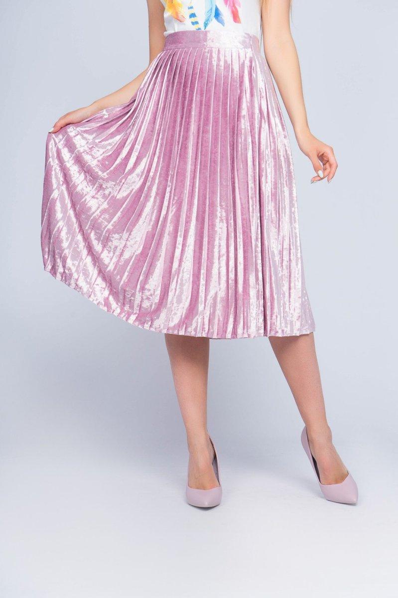 Плиссированная юбка UB-3235-15 Розовый