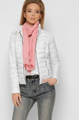 Женская стеганая куртка 8820-10 Молоко