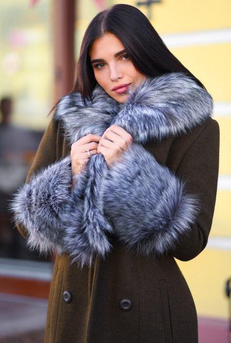 Удлиненное зимнее пальто LS-8758-1