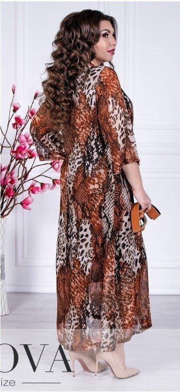 Платье А-силуэта 110 коричневое