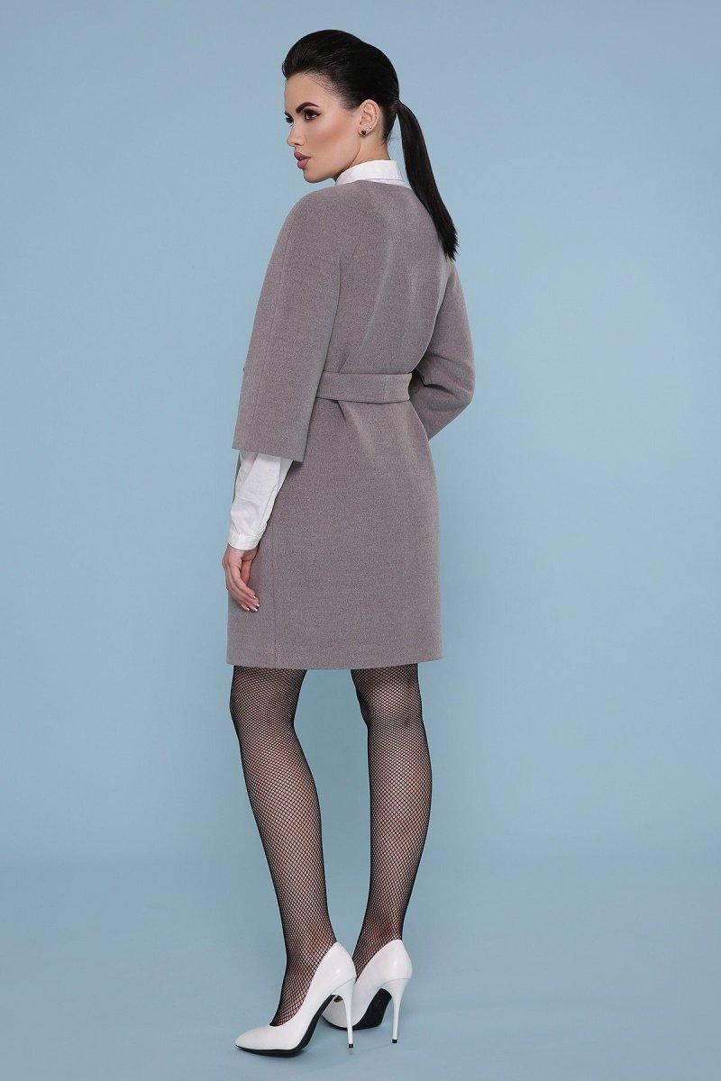 Пальто прямого силуэта П-355 720-серый