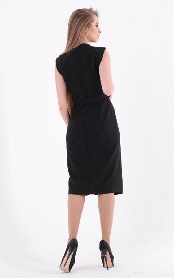Деловое платье миди 3583 чёрный