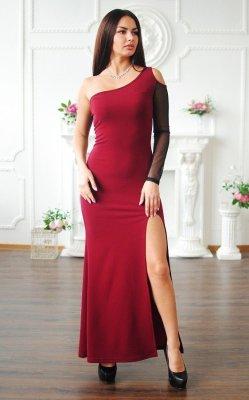 Длинное вечернее платье красное