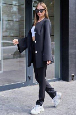 Костюм Сантония с брюками черный