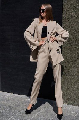 Костюм Сантония с брюками бежевый