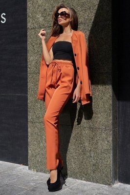 Костюм Сантония с брюками кирпичный