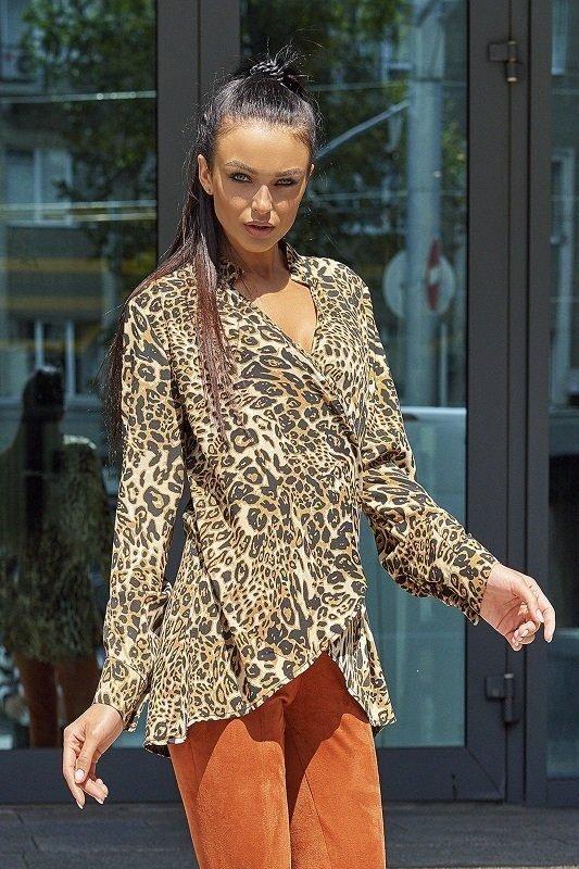 Стильная блуза Кейли коричневый