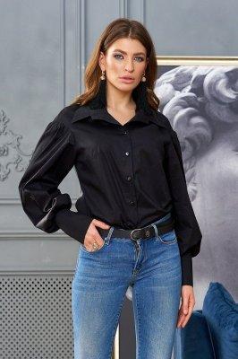 Стильная женская рубашка Рина черный