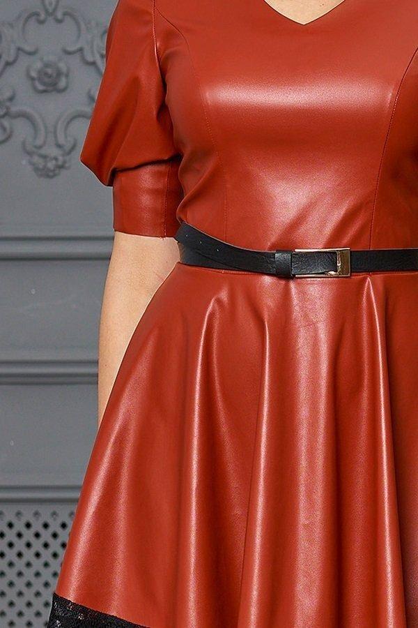 Платье Ассоль без пояса кирпичный