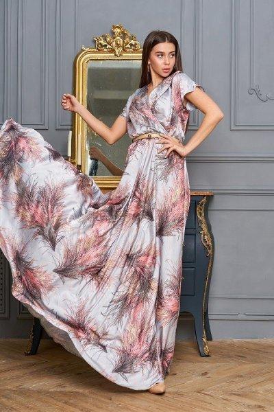 Платье Нора стальной