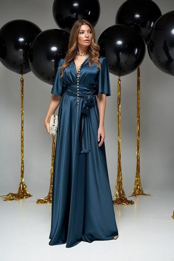 Модное вечернее платье Ариада Изумруд