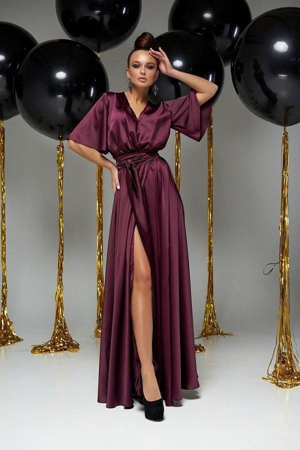 Модное вечернее платье Ариада марсала