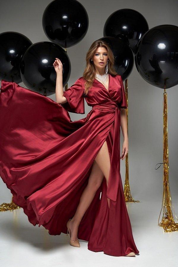 Модное вечернее платье Ариада винный