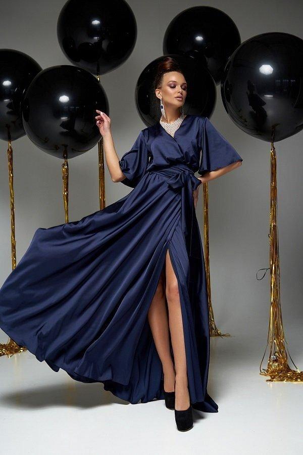 Модное вечернее платье Ариада тёмно-синий